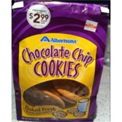 Cookies Bag Jinjing Cantik Db 1 albertsons chocolate chip cookies calories nutrition analysis more fooducate