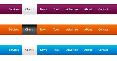 design menu buttons menu bar psd