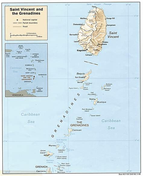 map of st vincent and the grenadines st vincent und die grenadinen karte krieg