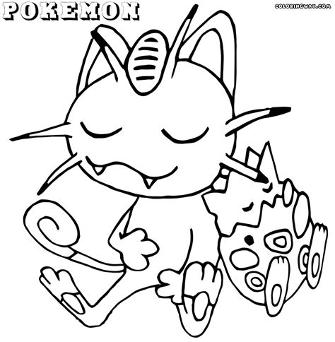 pokemon coloring pages meowth pokemon meowth coloring pages images pokemon images