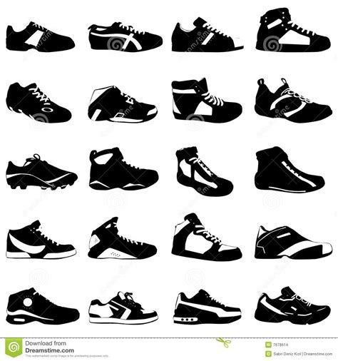 sport shoes vector fashion sport shoes vector stock images image 7678614