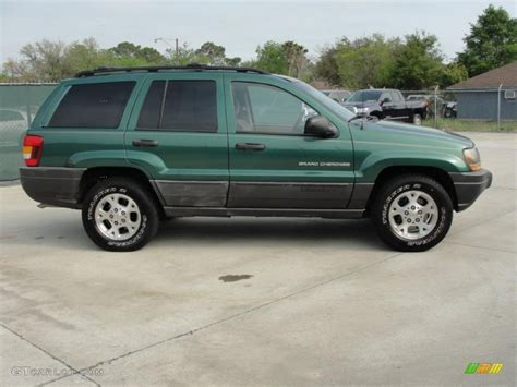 2000 green jeep shale green metallic 2000 jeep grand laredo