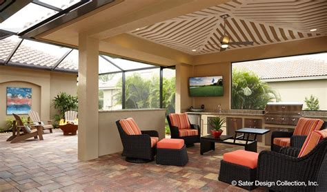 Sater House Plans outdoor kitchens and entertainment areas popular home