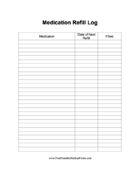inkling journal child custody journal organizer books printable medication refill log