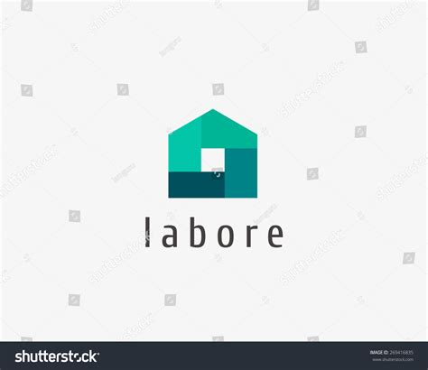 house logo design vector abstract house logo design template colorful sign