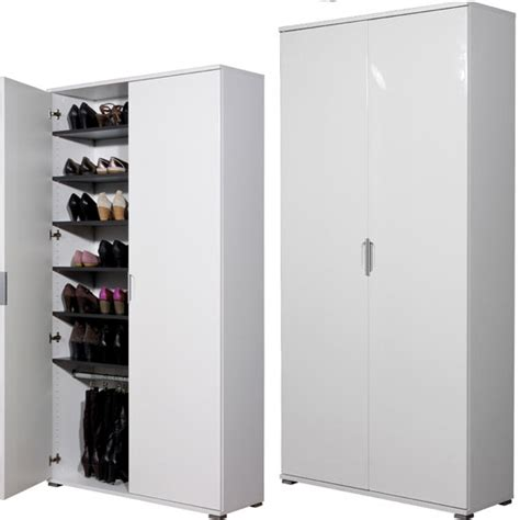 Large Shoe Storage Cabinet Trento High Gloss White Large Shoe Cabinet 11780 Furniture