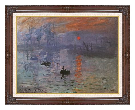 canvas print frame claude monet impression sunrise 12x16 framed art canvas