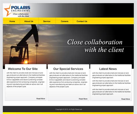 design of html web pages web page design contests 187 polaris engineering ltd
