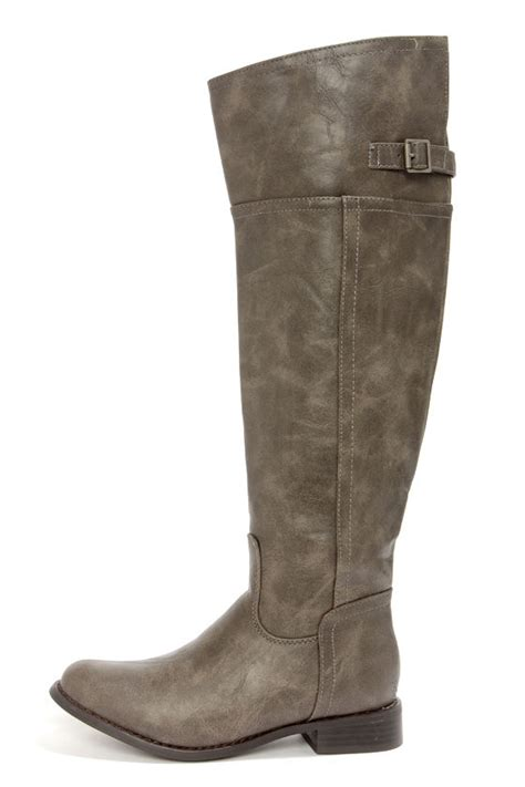 taupe boots knee high boots boots