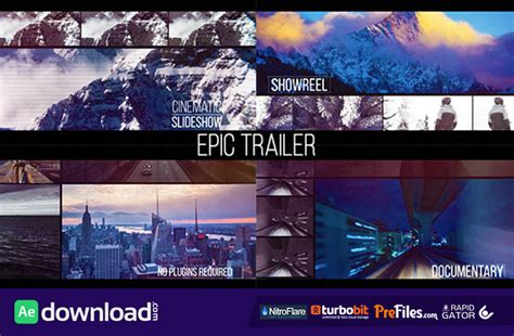 free templates after effects trailer videohive epic trailer free download free after