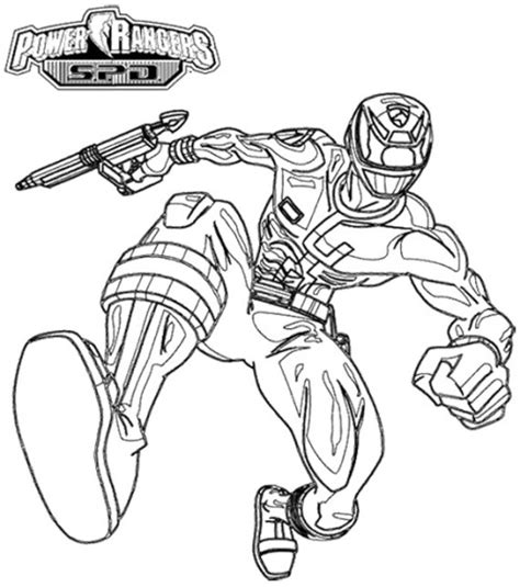 coloring pages power rangers spd power rangers spd pursuing enemy coloring page kids