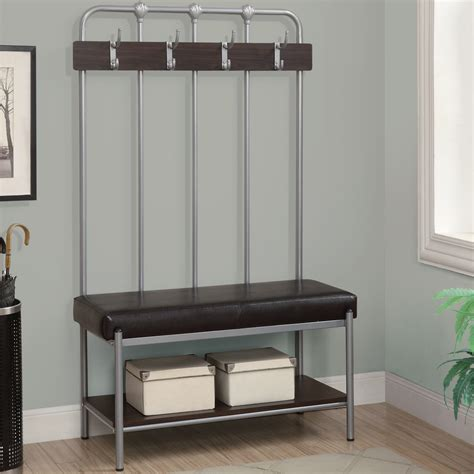 entryway storage bench with hooks entryway bench with storage and hooks awesome
