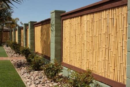 ide desain pagar bambu unik sederhana rumahku unik