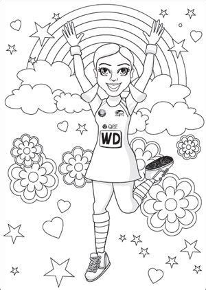 coloring pages netball the nsw swifts colouring in page netball pinterest