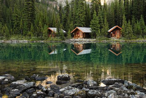 Cabins In Lake by Cabins Lake O Hara Yoho The Scenery Around Lake O