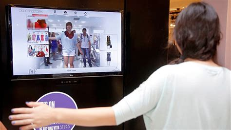 The Technology To Hit The Fitting Rooms Interactive Mirrors by 3 Retailers Go High Tech With Smart Fitting Rooms