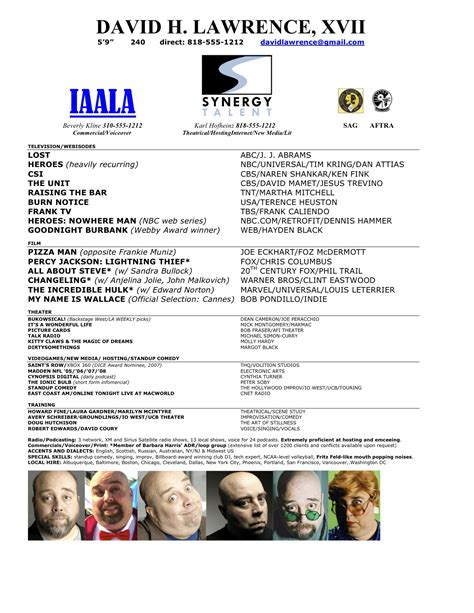 unique photograph of theater resume template business