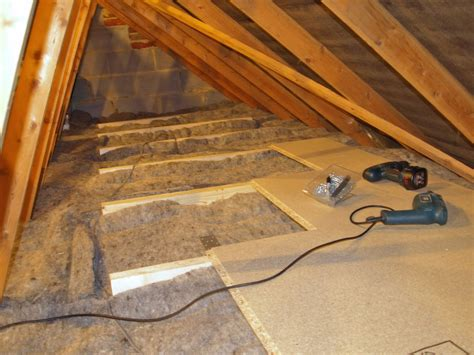 diy loft attic insulation with boarding for storage