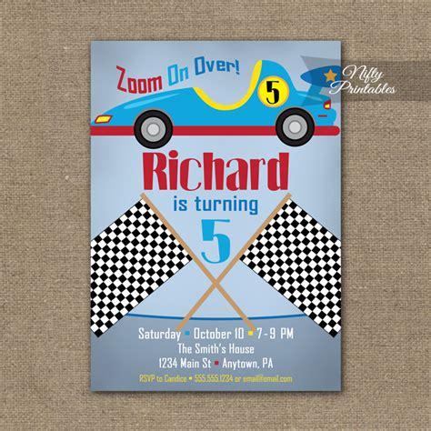 free printable birthday invitations race cars race car birthday invitation racecar invitations nifty