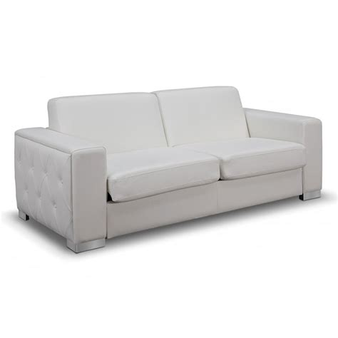 White Sofa Sleeper Allison Modern White Sleeper Sofa Collectic Home