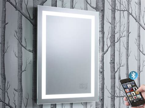 bathroom mirror bluetooth encore illuminated bluetooth bathroom mirror with speakers