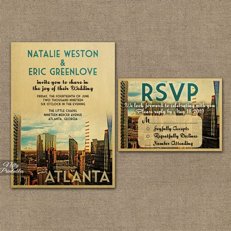 wedding invitations atlanta atlanta wedding invitations vtw nifty printables