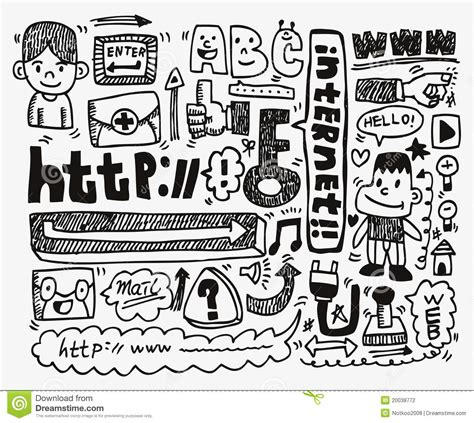 doodle bug website doodle web element icon set stock photography image