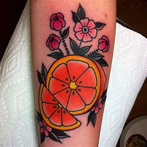 orange slice tattoo www pixshark com images galleries