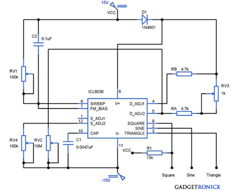 function generator circuit using icl8038 gadgetronicx