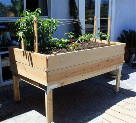 Free Standing Planter Boxes by Nana Smith Designs Large Organic Standing Vegetable