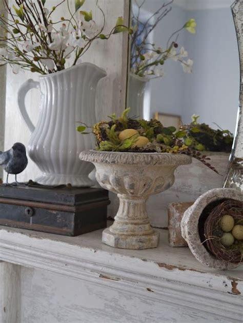 Shabby White Mantel Decor   Fireplace & Mantel Design and