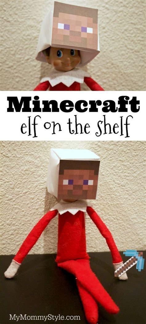 printable minecraft elf on the shelf head 1000 ideas about minecraft party activities on pinterest