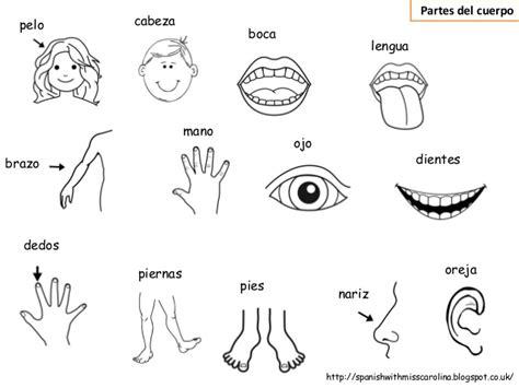 imagenes en ingles de las partes del cuerpo vocab mat partes del cuerpo