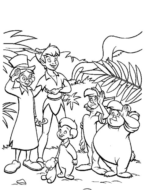 printable peter pan coloring pages coloring home