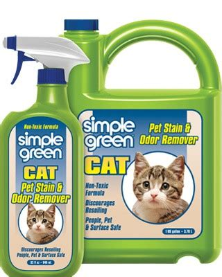 simple green pet cat stain odor remover