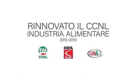 ccnl settore alimentare volantino unitario riassuntivo rinnovo ccnl industria