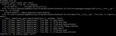 django tutorial no module named apps python django first tutorial importerror no module