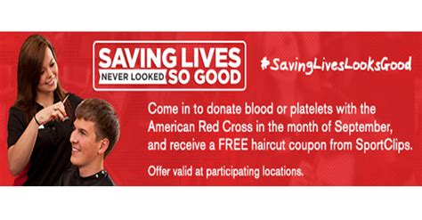 haircut coupons utah 2015 sports clip free haircut with blood or platelet donation