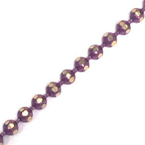 Brass L Chain by 1 5mm Faceted Coloured Chain Pink Brass