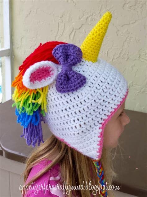 crochet pattern unicorn hat appetizer for a crafty mind rainbow crochet unicorn hat