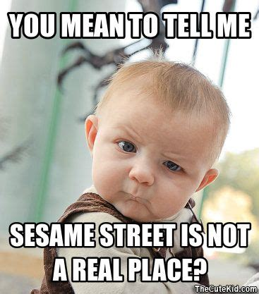 You Mean To Tell Me Meme - you mean to tell me sesame street is not a real place do you have a cutekid enter your kid
