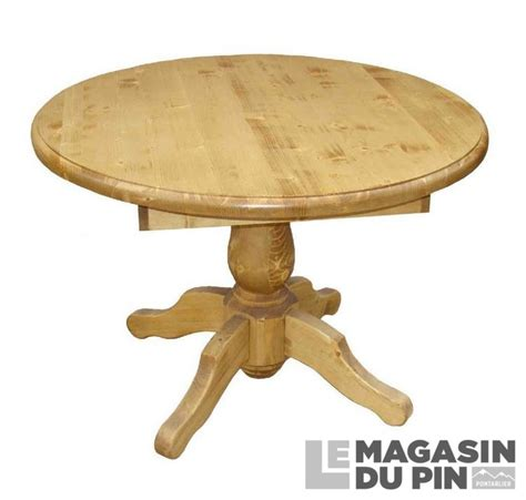 table ronde en pin massif table repas ronde pin massif pied central 110 cm