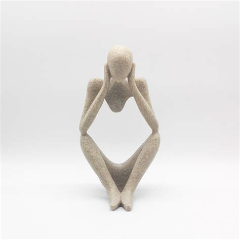 decorative figurines new abstract figure thinker sculpture