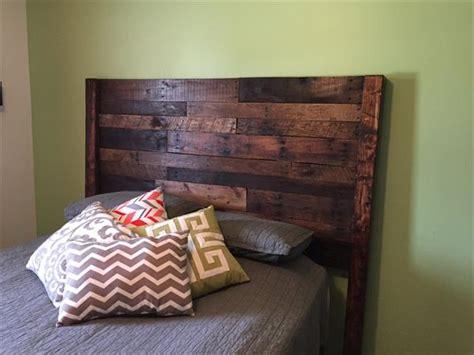 pallet size bed headboard pallet furniture diy