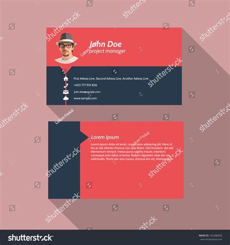Flat Design Business Card Template by Modern Simple Light Business Card Template Flat Design