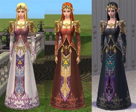 princess zelda hair mod the sims princess zelda sim dress and hair