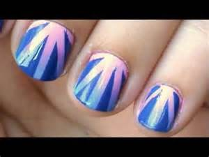 Gradient nail art tutorial using tape easy youtube