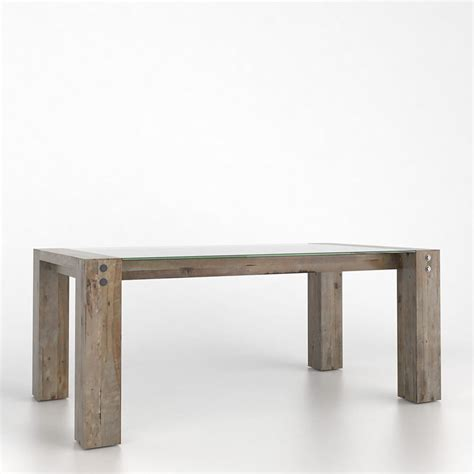 rectangular pedestal dining tables canadel gre4072ln loft rectangular glass dining table with
