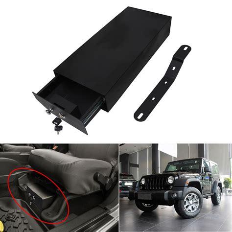 New Handbag Jeep Lock 1636 2 jeep style steel locking key safe box seat storage for jeep wrangler jeep tribe