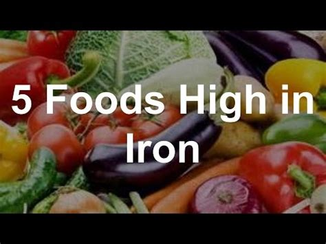 fruits w iron 5 foods high in iron